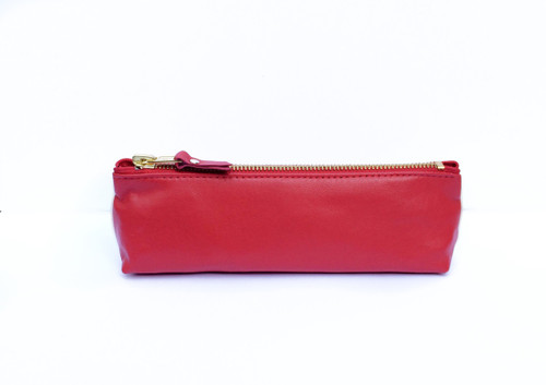 Genuine Leather Pouch - Ferrari Red
