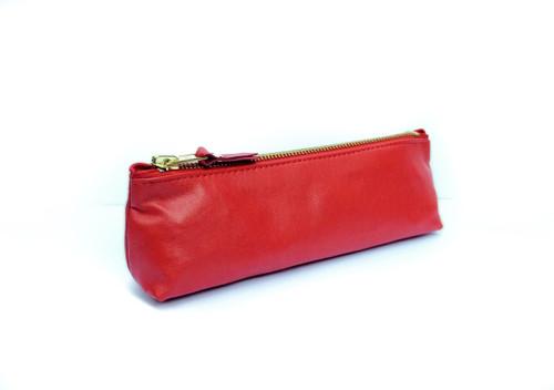 Genuine Leather Pouch - Ferrari Red