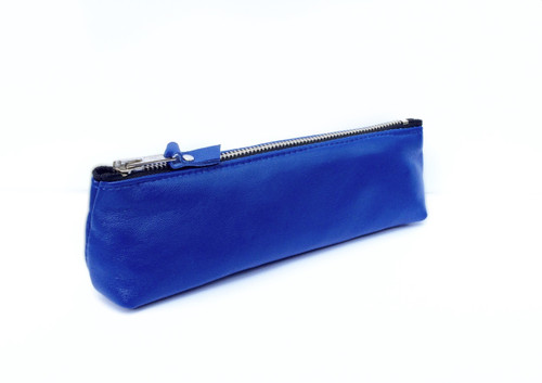 Genuine Leather Pouch - Cobalt Blue