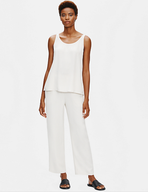 STRAIGHT ANKLE PANT SILK