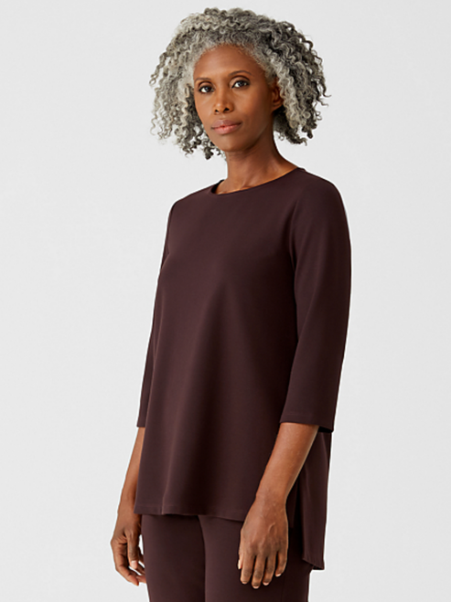 JEWEL NECK 3/4 SLEEVE TOP