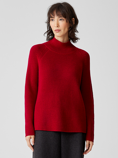 TURTLENECK RAGLAN KNIT TOP