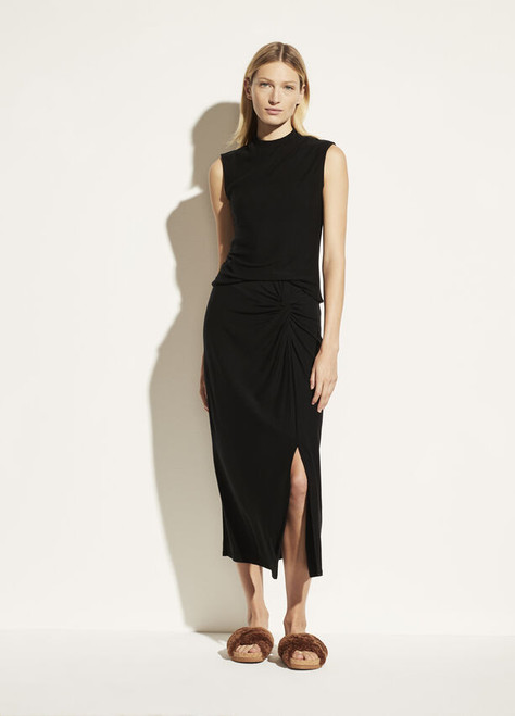 TWIST DRAPED SKIRT