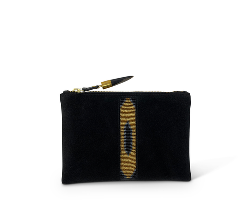 KIBERA BEADED STRIPE SMALL POUCH