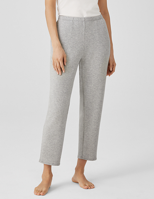 COZY BRUSHED TERRY TAPERED ANKLE PANT