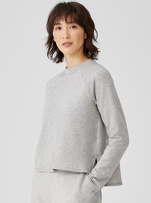 COZY BRUSHED TERRY RAGLAN-SLEEVE B0X-TOP
