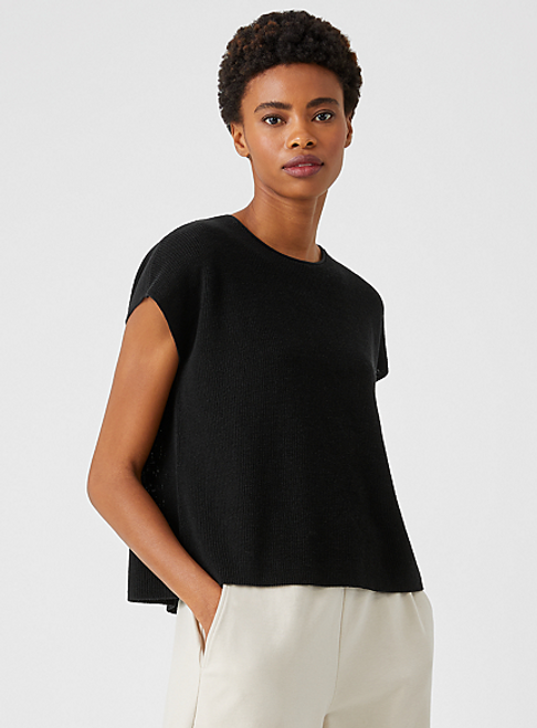 ORGANIC LINEN COTTON  CREW NECK BOX TOP