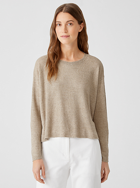 CROPPED ROUND NECK PULLOVER