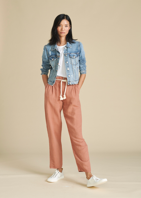 KARTER PLEATED CROP PANT