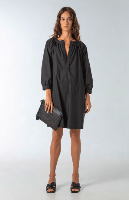 POPLIN STRETCH DRESS