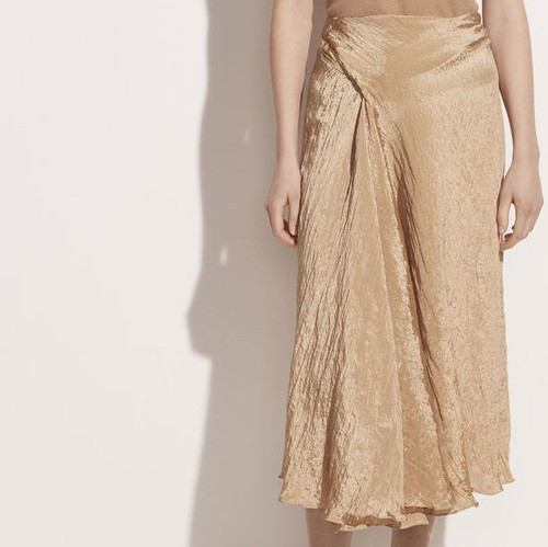 TEXTURED DRAPE SKIRT