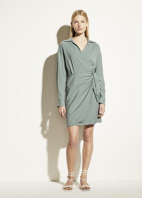 L/S WRAP SHIRT DRESS