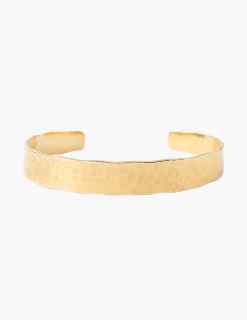 YELLOW GOLD HAMMERED CUFF