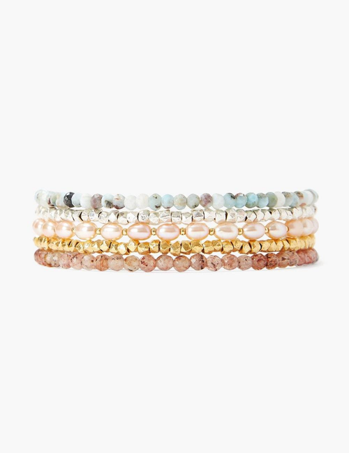 MULTI MIX PEARL WRAP BRACELET