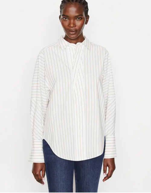 THE OVERSIZED STRIPED SHIRT