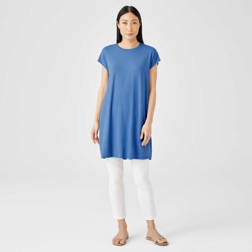 CREW NECK SHORT BOXY DRESS