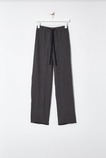 TAPERED ANKLE PUCKER LINEN PANT