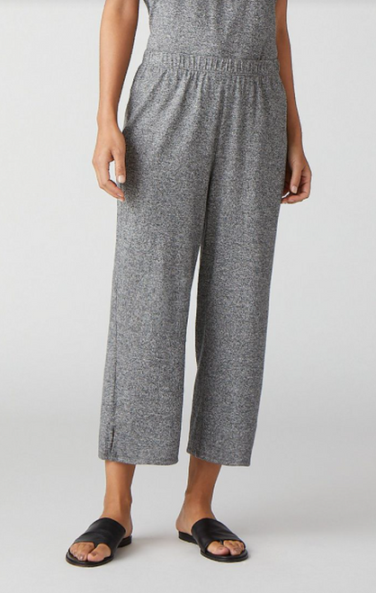 STRAIGHT CROPPED PANT W/SIDE SLIT