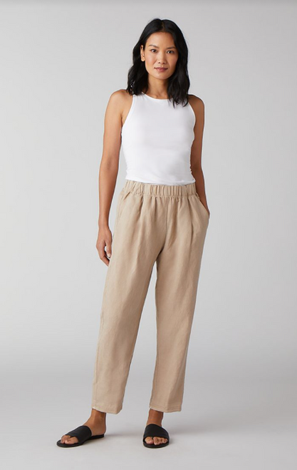 TAPERED ANKLE TENCEL & LINEN PANT