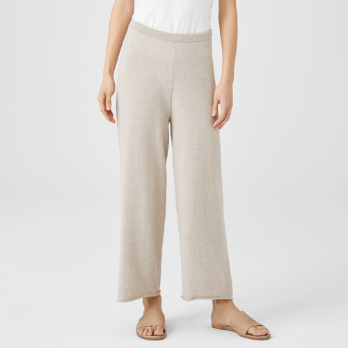 STRAIGHT CROPPED ORGANIC COTTON PANT