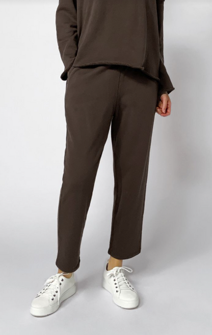 FRENCH TERRY ANKLE TRACK PANT