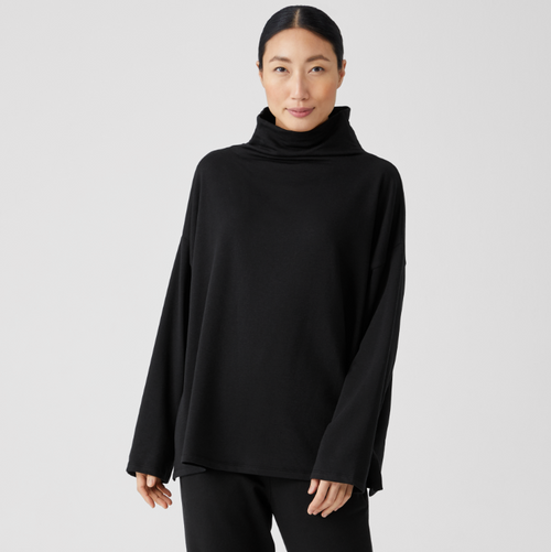 HIGH FUNNEL NECK BOX TOP