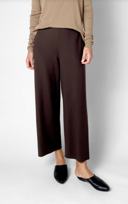 HIGH WAISTED WIDE ANKLE PANT