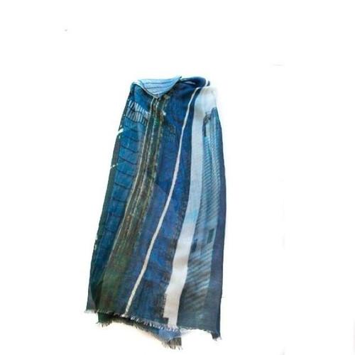 HUDSON YARDS SCARF-BLUE