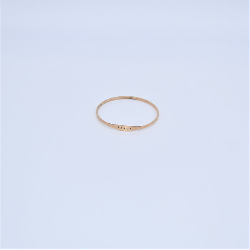 GOLDFILL PEACE BANGLE