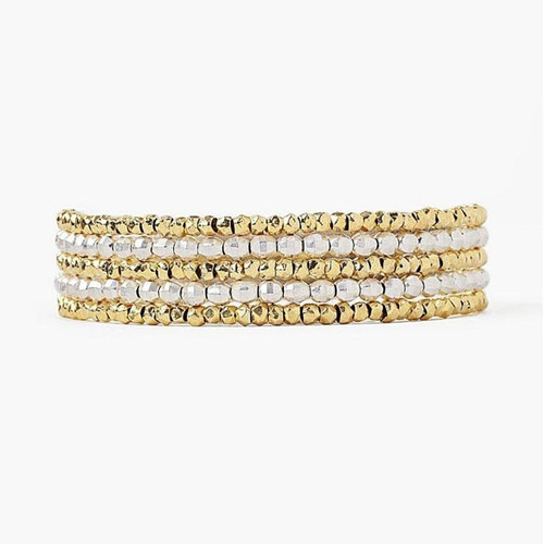 GOLD MIX NAKED WRAP BRACELET
