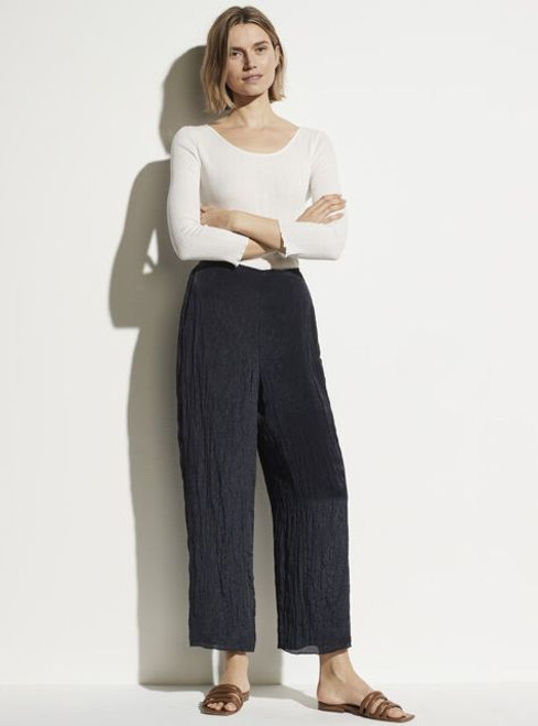 TEXTURED WIDE LEG PULL ON