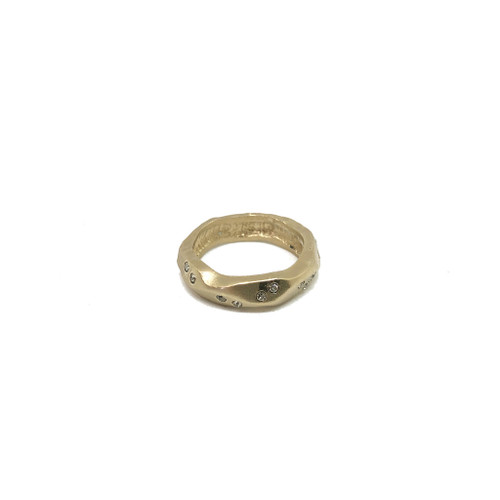 GOLD THIN WAVE IMPRESSION BAND