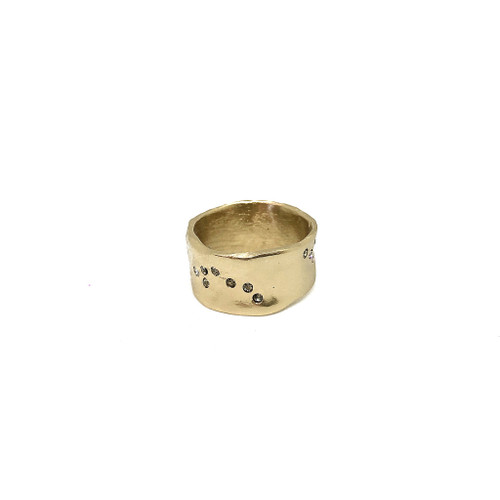 GOLD WIDE IMPRESSION BAND