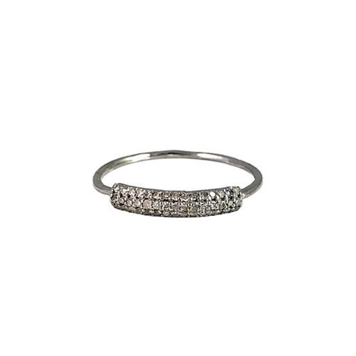 DIAMOND PETITE BAR RING