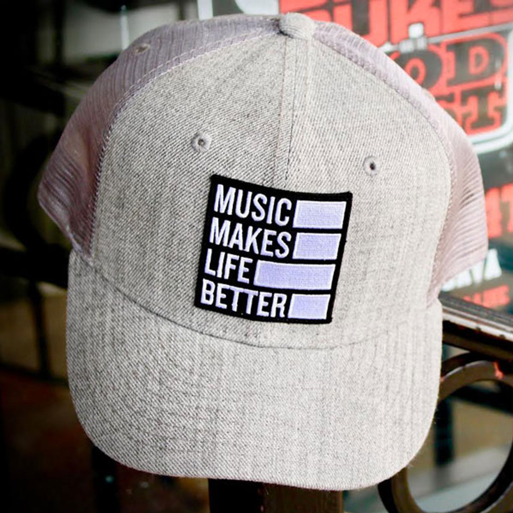 Music Makes Life Better Logo Patch Cap