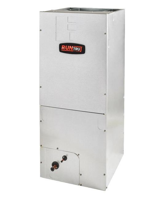 "1.5 Ton, 14 SEER, RunTru brand, by Trane (Sku# RT186) Straight Cool Air Conditioner Air Handler Model: A4AH4P18A1B60A Dimensions (HxWxD): 45.02"" x 18.5"" x 21"" A4AH Multi Position Air Handler Requires External Filter Rack BAYSF1185 (18.5"")."