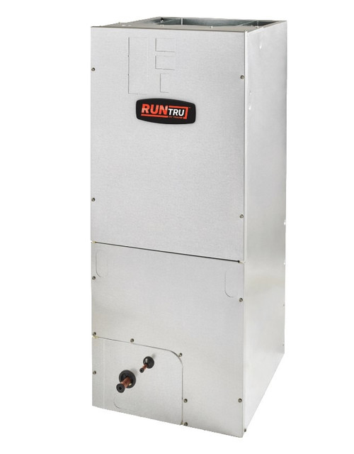 "2 Ton 14 SEER, RunTru brand, by Trane (Sku# RT187) Straight Cool Air Conditioner Air Handler Model: A4AH4P24A1B60A Dimensions (HxWxD): 45.02"" x 18.5"" x 21"" A4AH Multi Position Air Handler Requires External Filter Rack BAYSF1185 (18.5"")."
