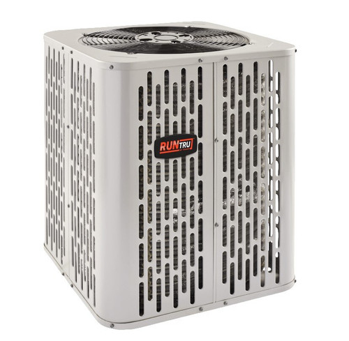"2 Ton 14 SEER, RunTru brand, by Trane (Sku# RT179) Heat Pump Air Conditioner Condenser Model: A4HP4023A1000A Dimensions (HxWxD): 28.6"" x 25.6"" x 25.6"""