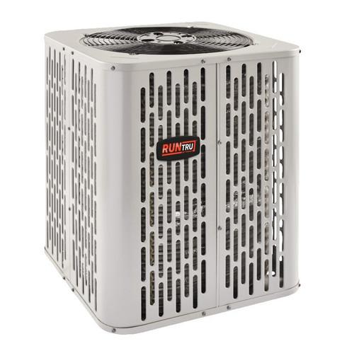"""3 Ton 14 SEER, RunTru brand, by Trane (Sku# RT182) Heat Pump Air Conditioner Condenser Model: A4HP4036A1000A Dimensions (HxWxD): 28.6"""" x 34.3"""" x 34.3"""""""