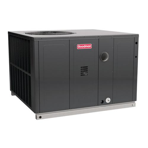3.5 Ton, (100,000 BTU Heat) 16 SEER, Goodman brand, (Sku# GM360) Gas Heat Air Conditioner Package unit Model: GPC1442M41A* Dimensions (HxWxD): 42.75 x 47 x 51 Convertible to Downflow