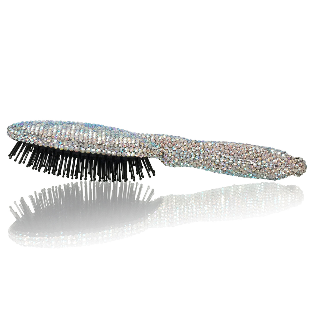 Oval Shape Crystal Brush