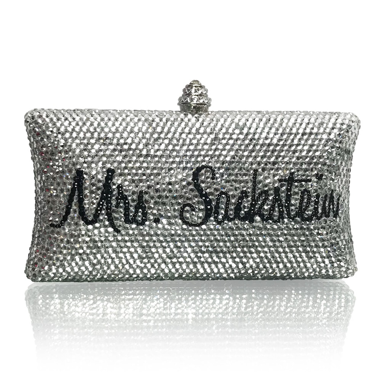 Personalized Cursive Font Large Clutch (iPhone Plus friendly)