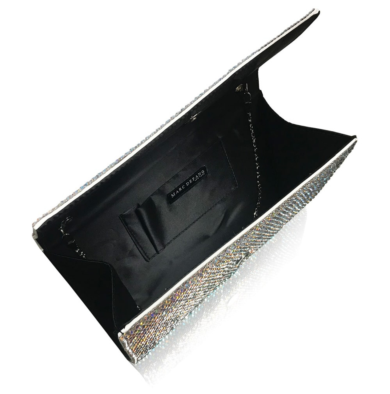 Straight Cut Large Title Crystal Purse