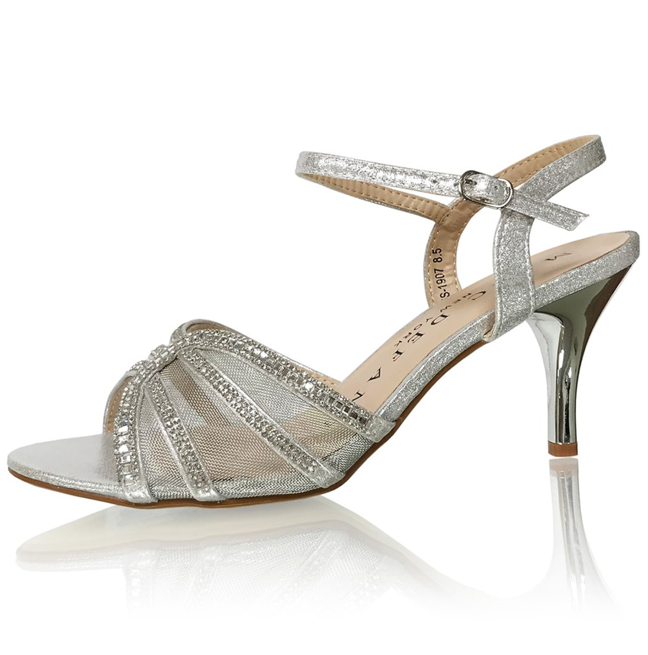 Bridal Netted Bridal Sandal Pumps