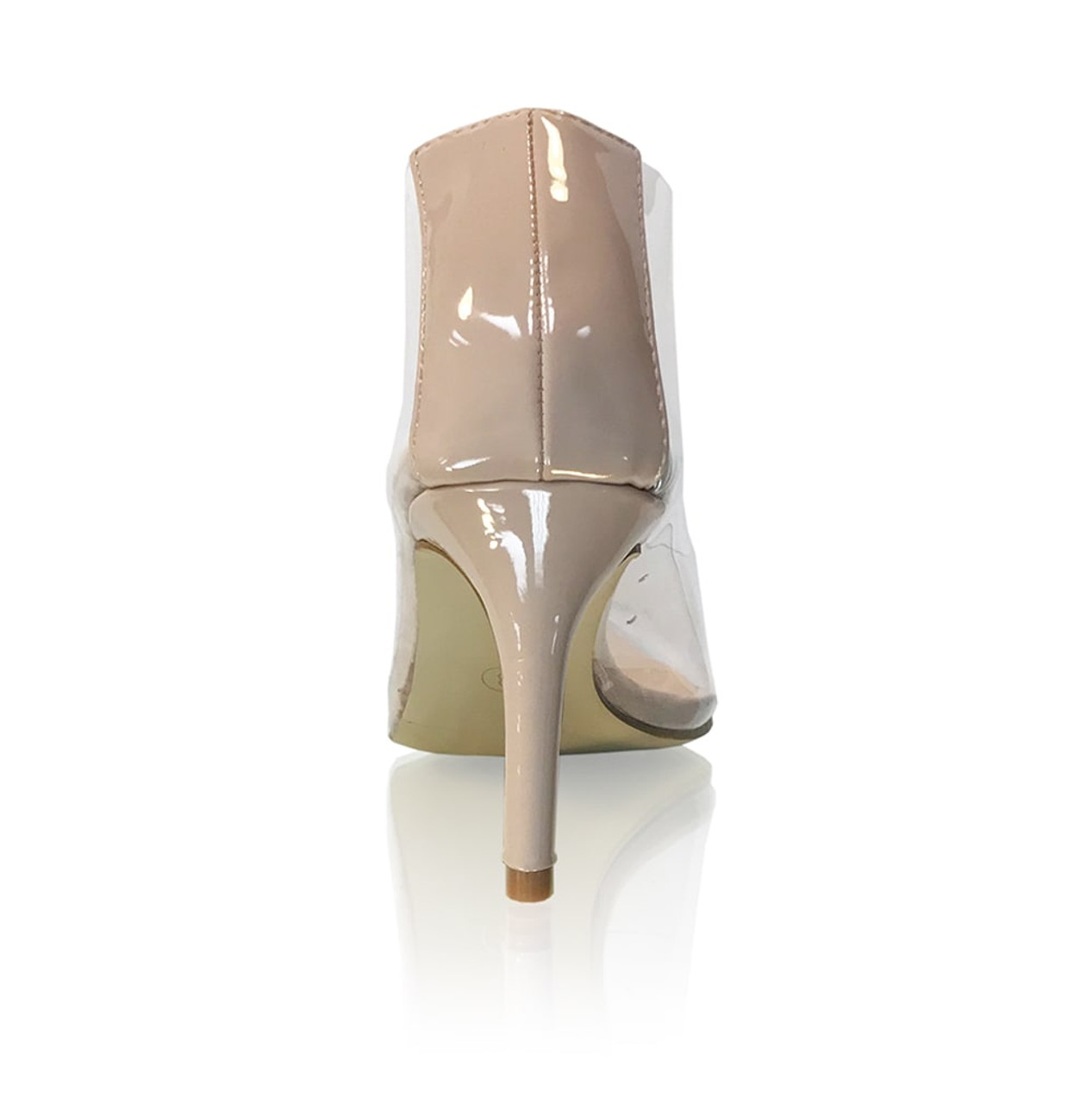 Lt. Nude Clear Pointed Toe Pumps