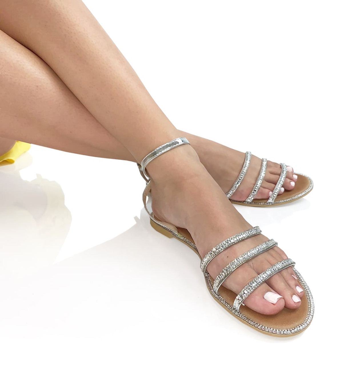 Crystal Strappy Sandals