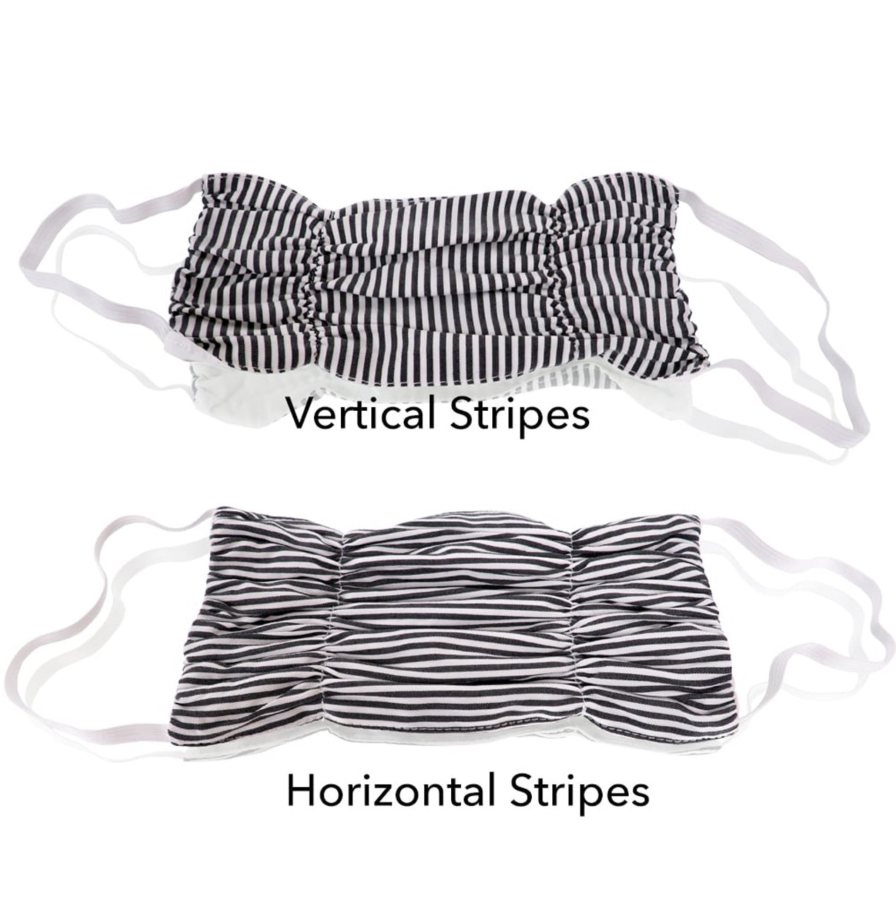 Black Stripes Cotton Mask