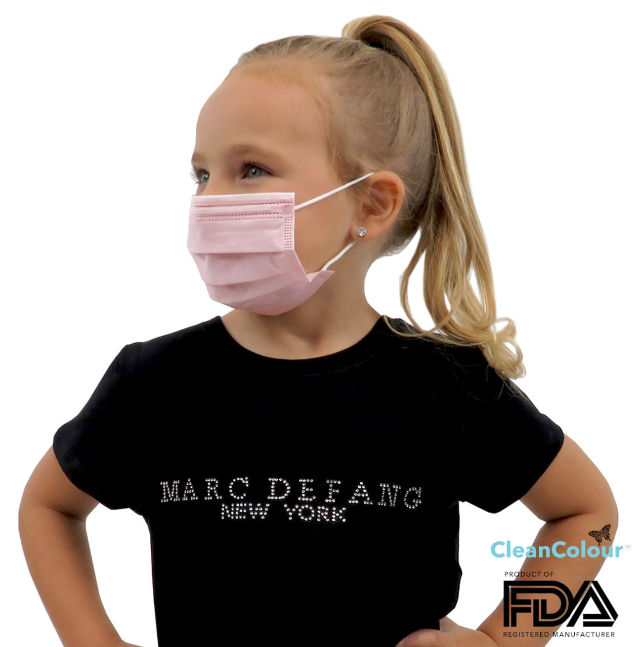 Children's PINK 3 Ply Protective Face Mask (50 pcs Pack)