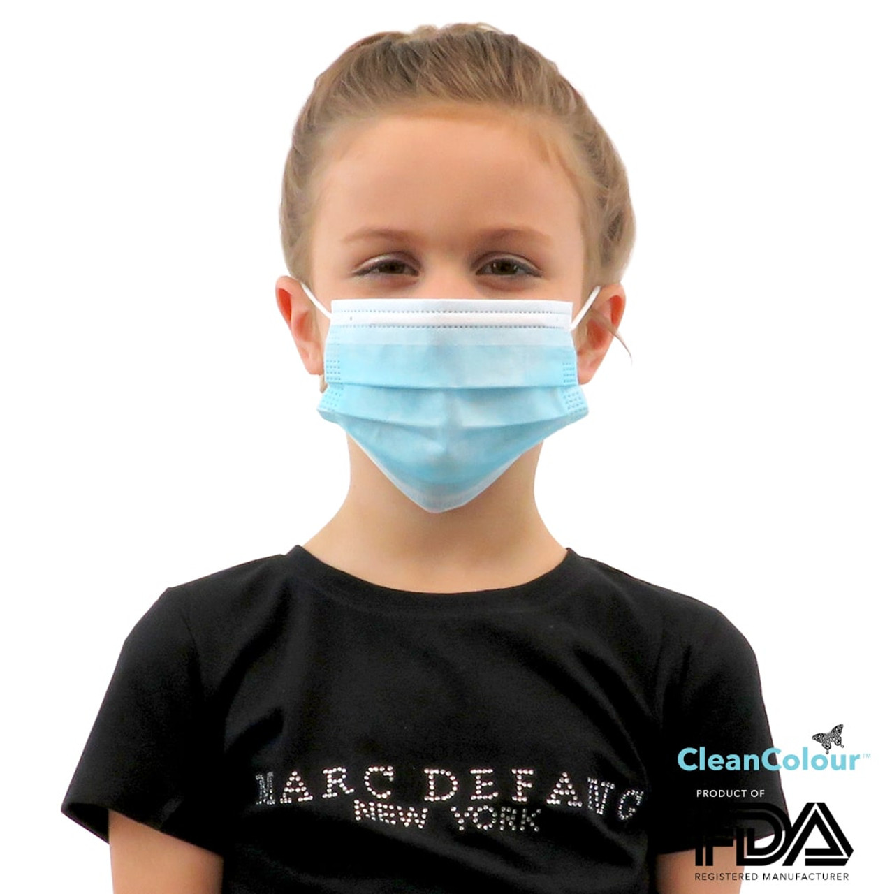 Children's BLUE 3 Ply Protective Face Mask (50 pcs Pack)