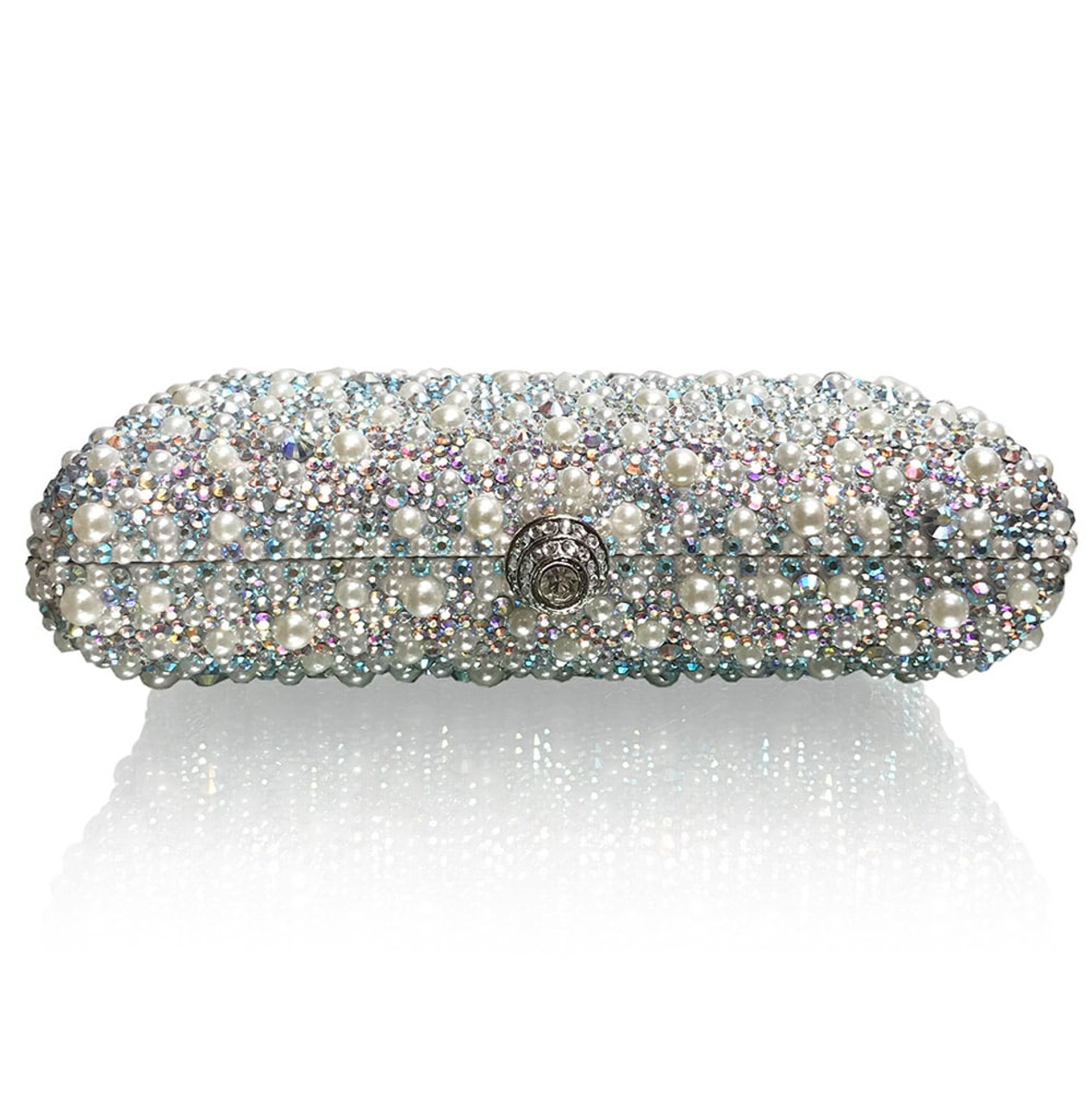 Morning Dew Large Bridal Clutch (iPhone Xs Max friendly)